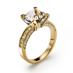 Prsten Princess - 41065 (gold/crystal)