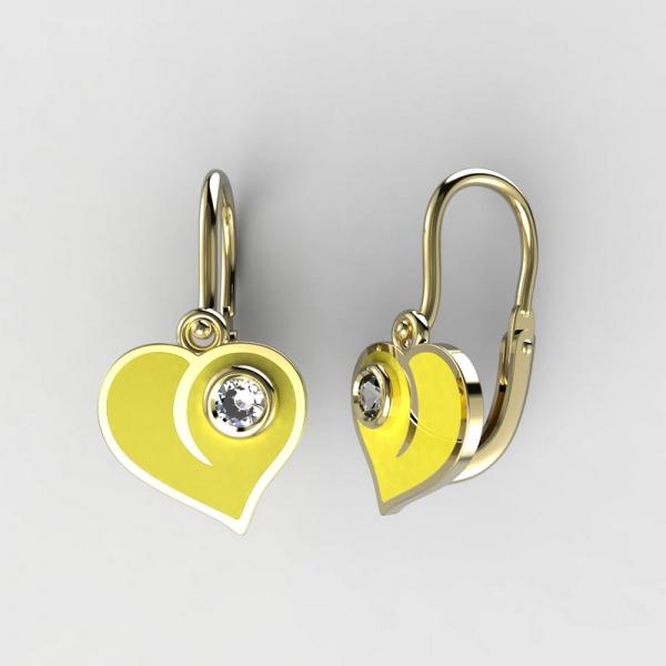 046719f6a Dětské zlaté náušnice BeKid srdce BR (1283), Barva náušnic Žlutá ...